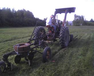 Plowing a Spot for New Hoophouse (?)