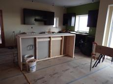 Kitchen Island - paneling to come